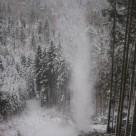 Seilbahnschlag im Winter